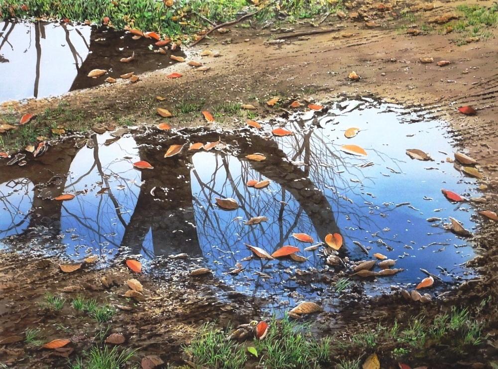 Дивные акварели японского художника Абэ Тошиюки настраивают нафилософский лад. Важны мельчайшие дет