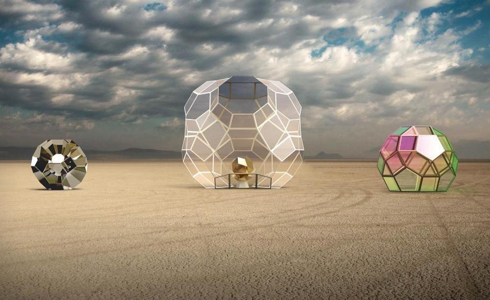 Геометрическая инсталляция «Золотое сердце». Вдохновением для создания этого проекта стали мн