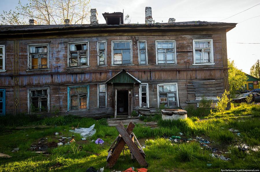 38. Жилой дом. На строительство нового жилья для переселенцев в Архангельске было выделено 3 млрд 17