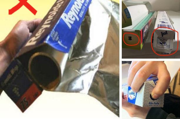 Если вы часто рвете алюминиевую фольгу, отматывая ее, то вот как можно этого избежать. Практически н