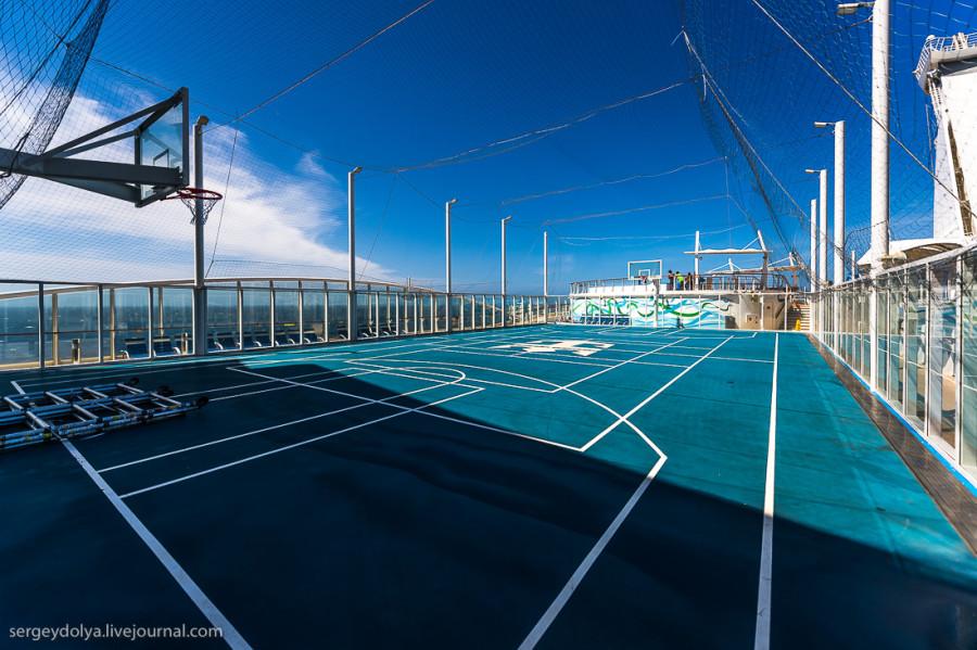 9. Баскетбольная и волейбольная площадка