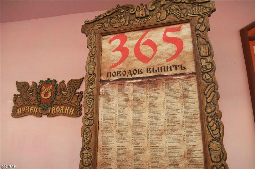 Стенд «365 поводов выпить»