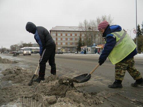 Уборка снега в Куйбышеве