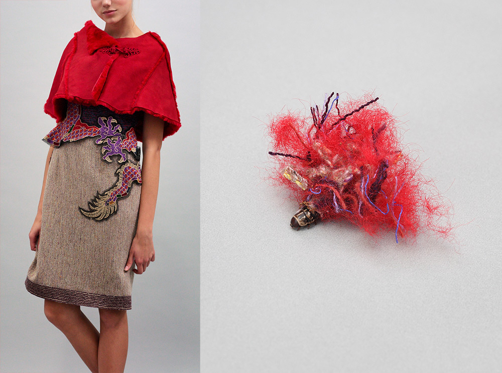 Artist Aki Inomata Provides Bagworms with Snippets of High Fashion to Create Matching Cocoons