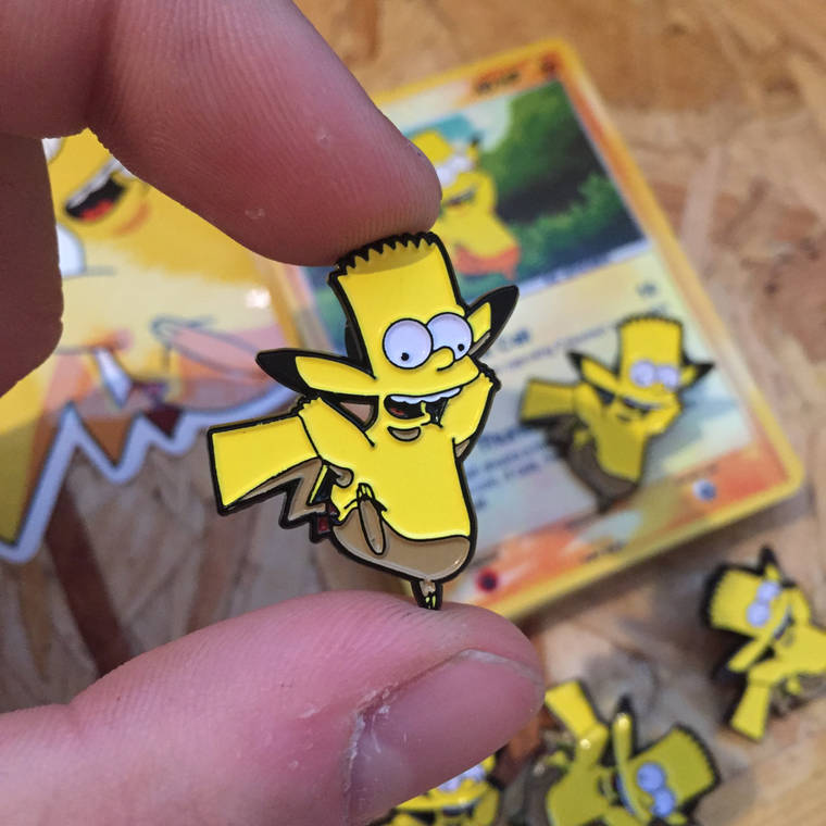 Pokemon x The Simpsons - Colorful mashups to collect as pins or stickers