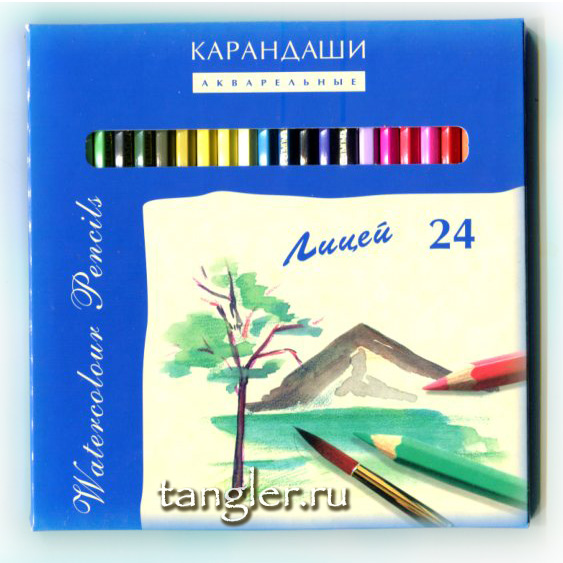 """Коробка акварельных карандашей """"Лицей"""" 24, Москва"""