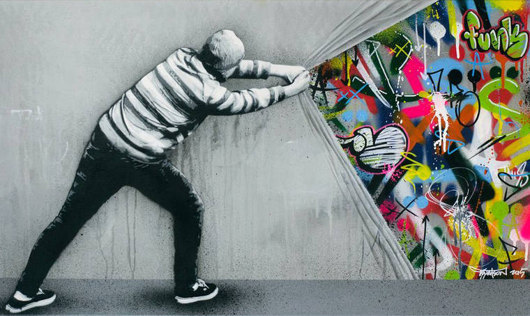 Behind the curtain – The latest street art creations of Martin Whatson (17 pics)