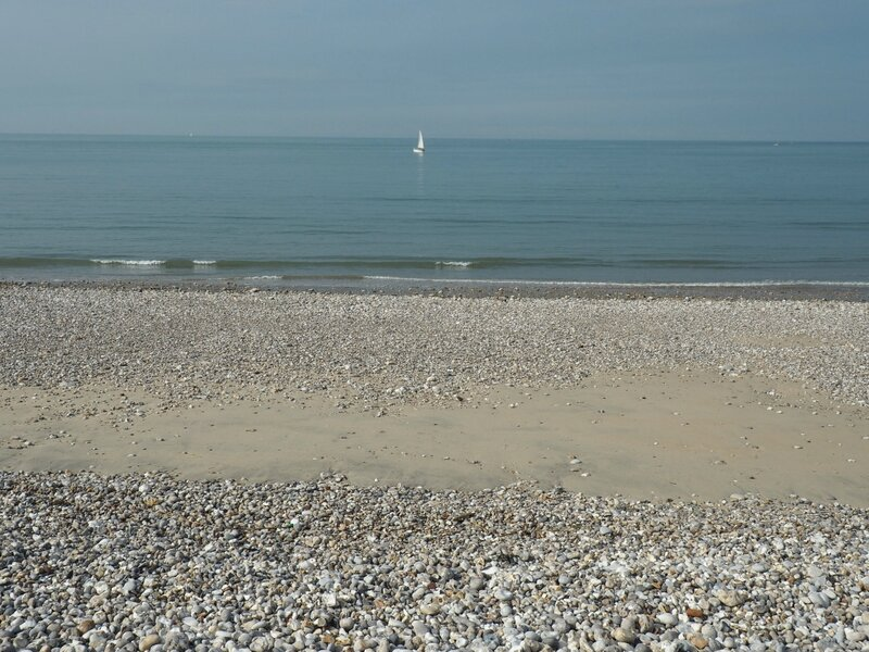 Франция, Гавр - берег моря (France, Le Havre - sea shore)