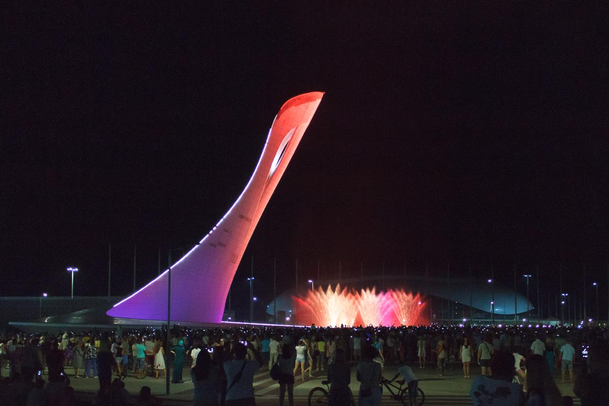 Поющий фонтан, Олимпийский парк, Сочи фото 2