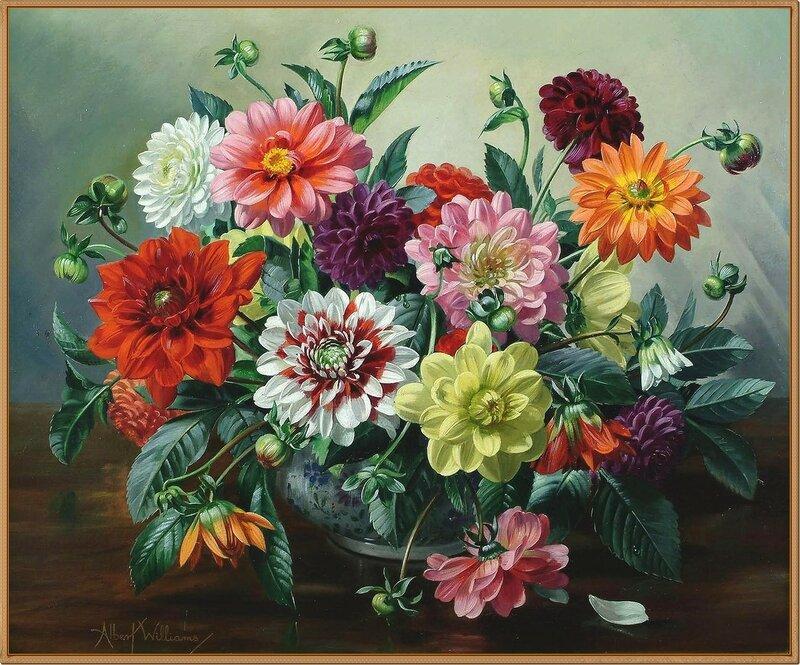 12 Чаша с георгинами (A bowl of Dahlias)_50.5 x 60.2_х.,м._Частное собрание.jpg