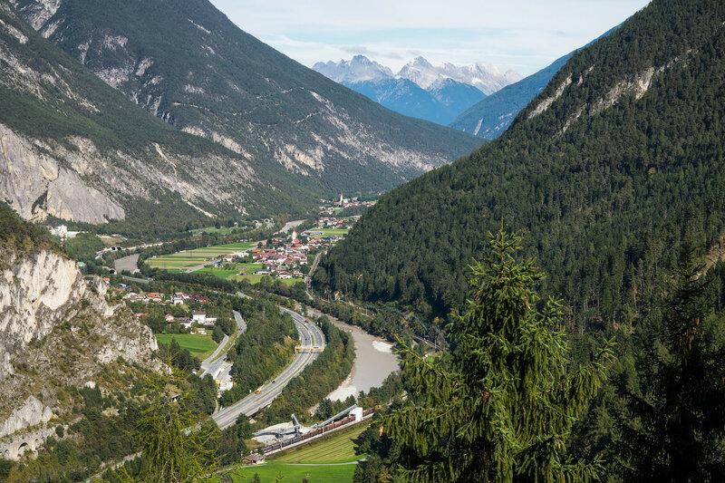 долина реки Инн, Альпы, Тироль, Австрия
