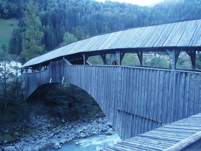 деревянный мост через Инн на веломаршруте Via Claudia Augusta