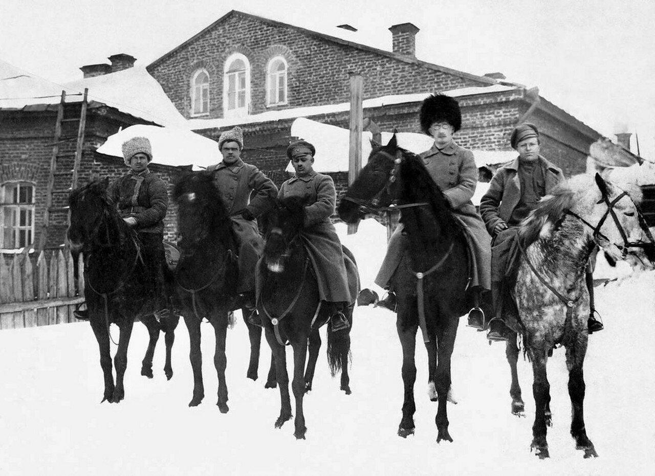 1918. Штаб Степана Вострецова, командира 242-го стрелкового полка 27-й стрелковой дивизии 5-й Красной Армии