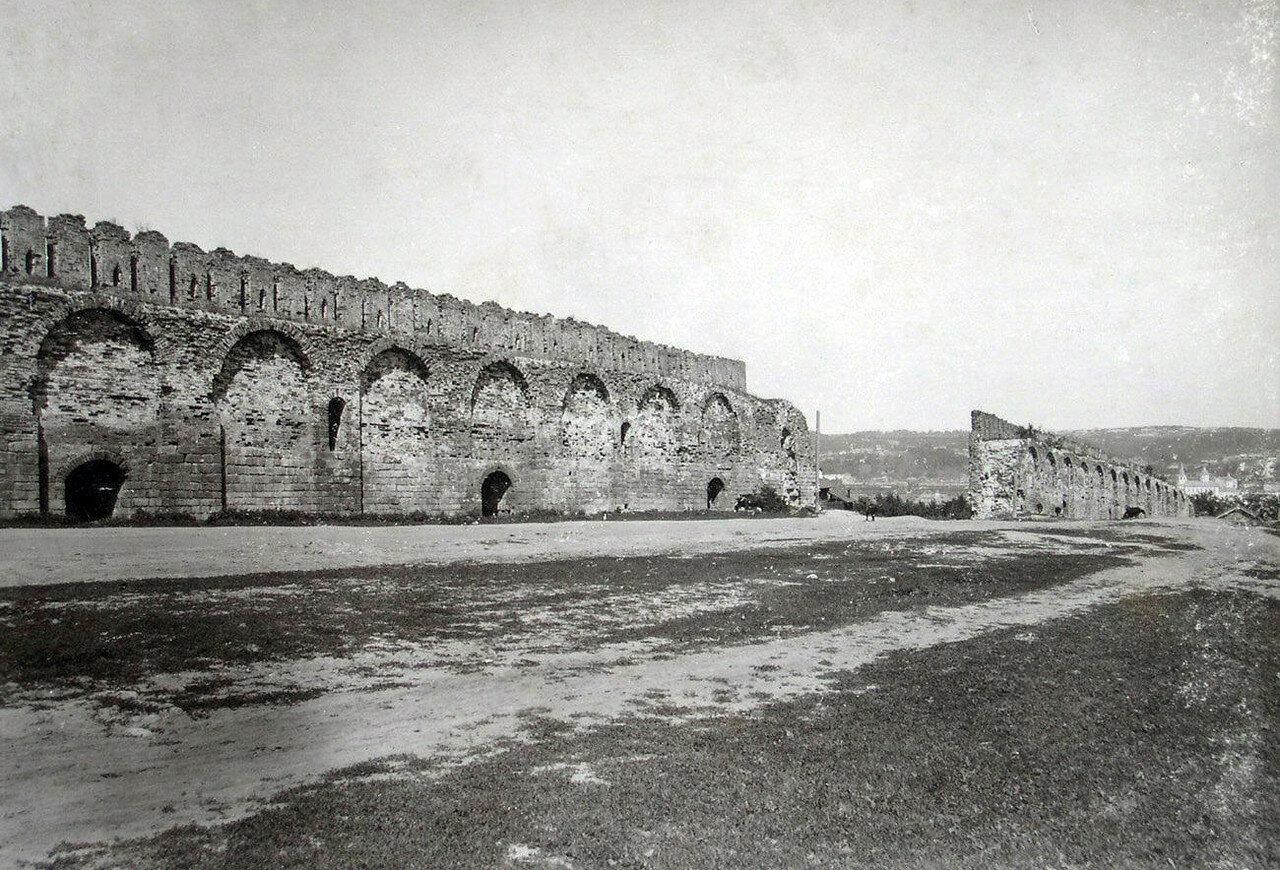 Прясла крепостной стены на Казанской горе. 1901