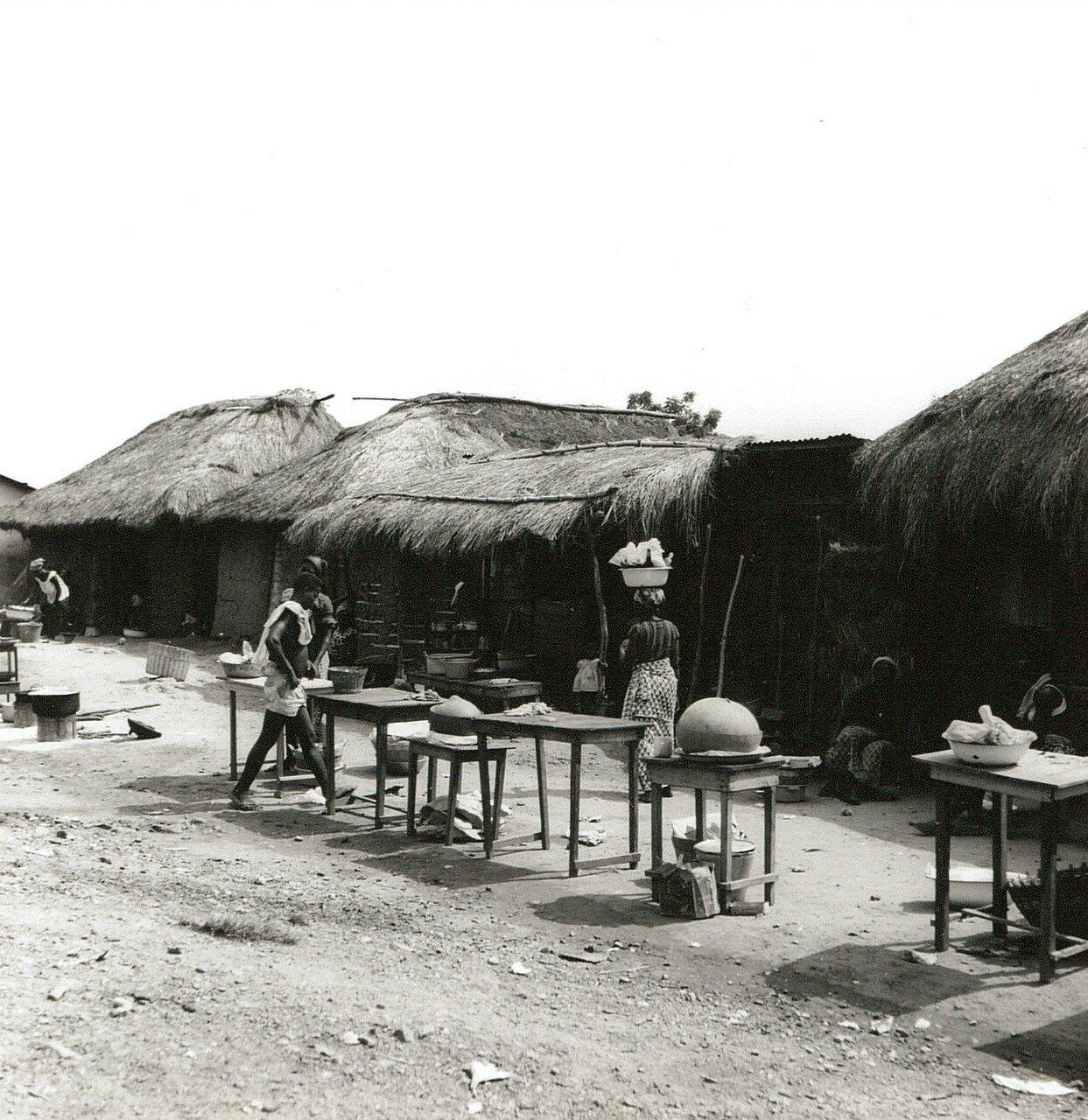 Гана. Деревня в саванне. Повседневная жизнь