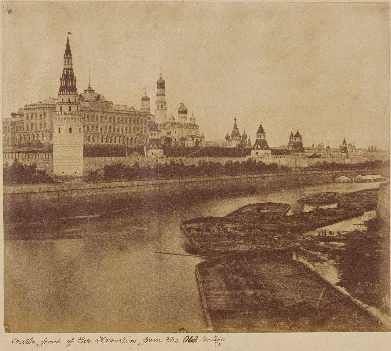 Южная часть Кремля от старого моста