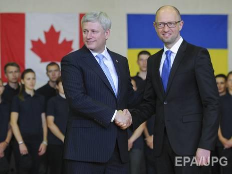 Яценюк в Канаде: Главная цель моей страны - стать членом НАТО