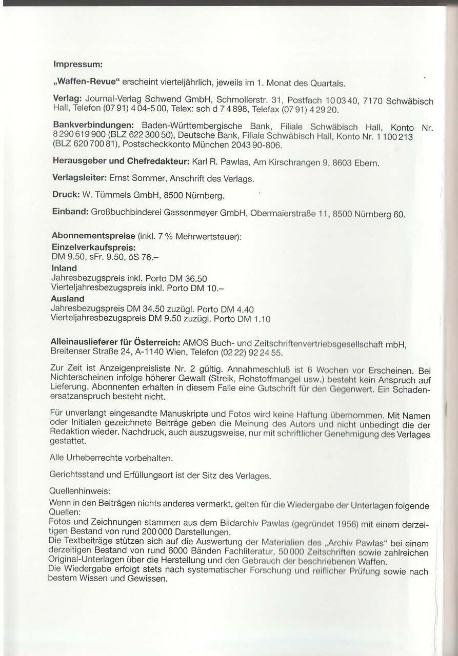 Waffen Revue Nr 79 Iv Quartal 1990 Sassik
