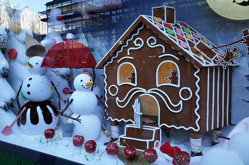 Рождественская витрина в Стокгольме