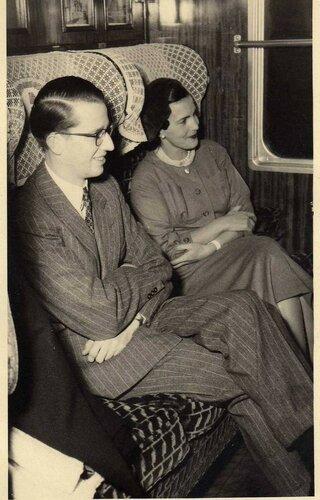 Принцесса Лилиан и Болдуин. Начало 1950-х гг.