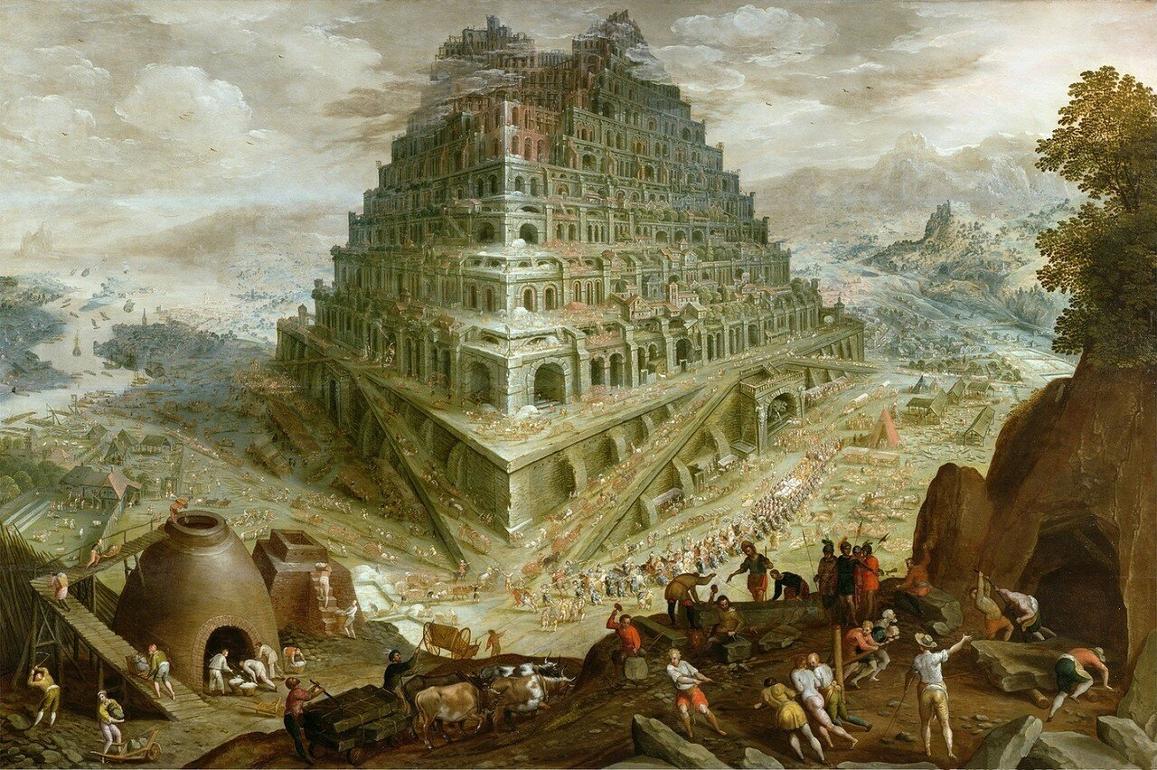 The Building of the Tower of Babel (oil on canvas)