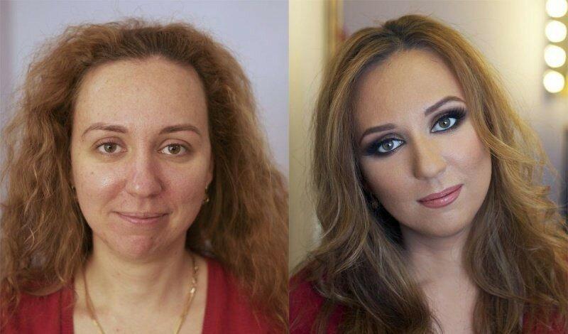 Как макияж меняет женщину— фотографии «до и после»