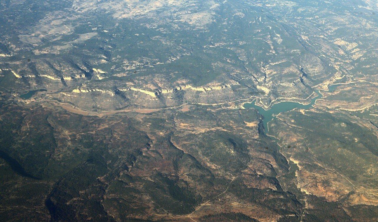 Водохранилище Контрерас, вид с самолета