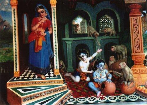 Кришна-Баларама и Яшодадеви