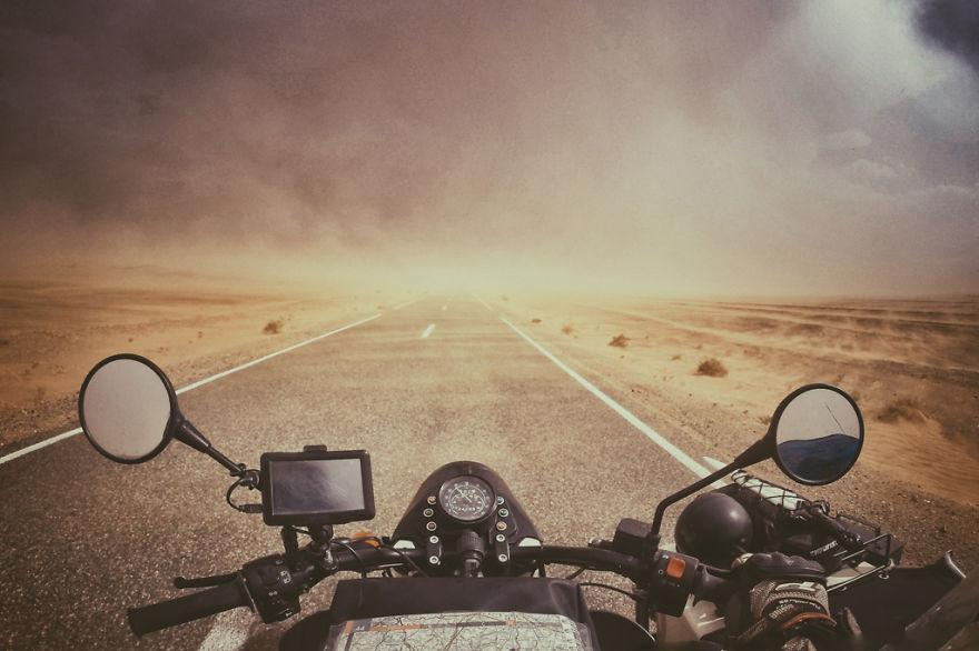 23. Песчаная буря в пустыне Сахара