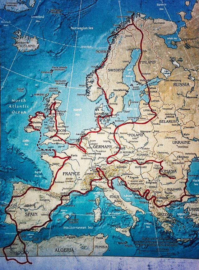 38. Карта путешествия со стартом в Бухаресте, Румыния