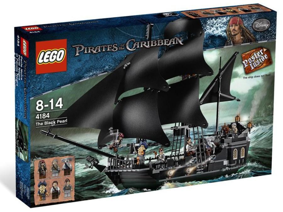 7. Черная жемчужина В состав этого набора входят корабль, оружие, пираты, моряцкие атрибуты и волшеб