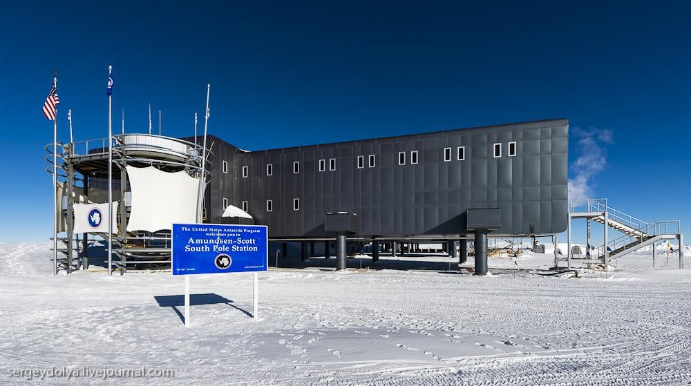 Антарктическая станция на Южном полюсе «Амундсен — Скотт» (41 фото)