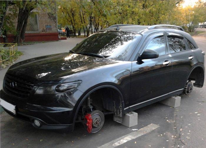 Infinity без колес В современном автомобиле немало элементов, которые несложно демонтировать, а зате