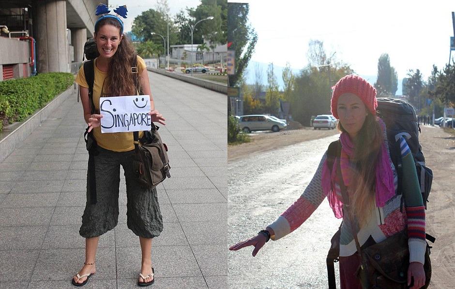 Фото слева сделано в Киргизии, справа — в Сингапуре.
