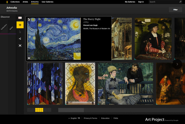Google Art Project Это приложение – интереснейшая коллекция высококачественных электронных реп