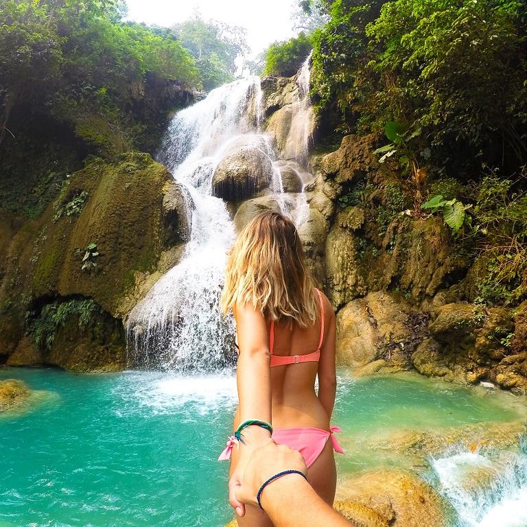 Водопад Куанг Си, Лаос