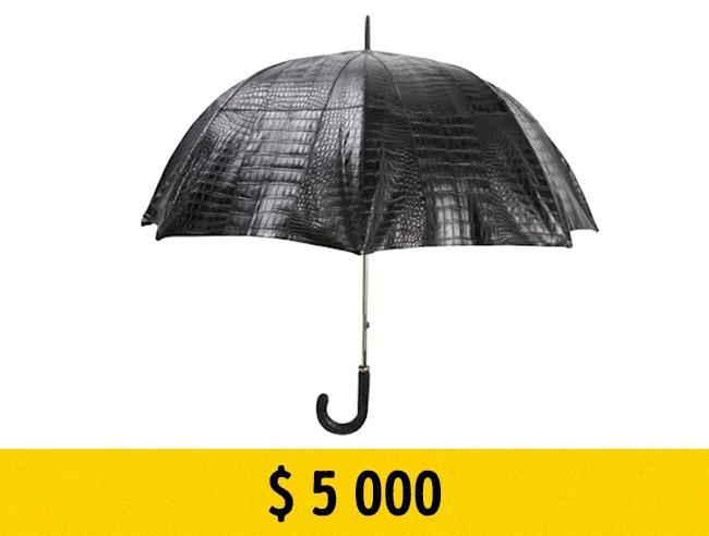 © billionairecouture.com  Самый дорогой зонт изкожи крокодила обойдется вам в $  5тыс. Про