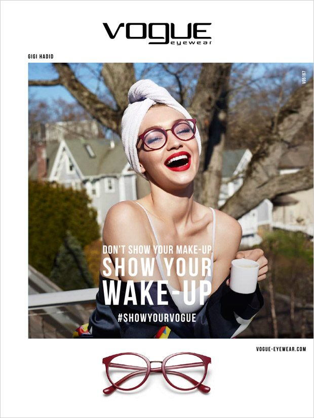 Джиджи Хадид в рекламе очков Vogue (6 фото)