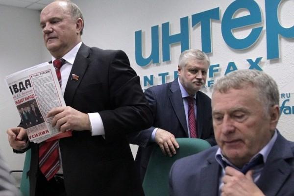 Кремль небудет подменять лидеров думских партий навыборах президента