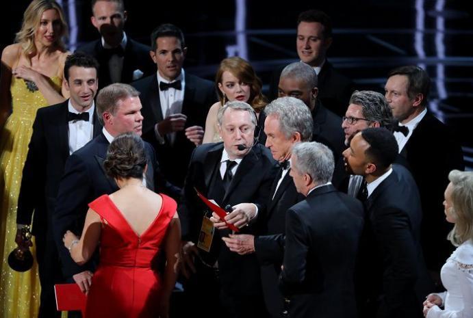 При оповещении лучшего фильма «Оскара» произошла ошибка