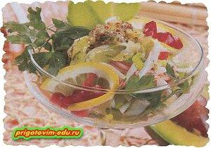 Салат с крабами «Остров Эльдорадо»