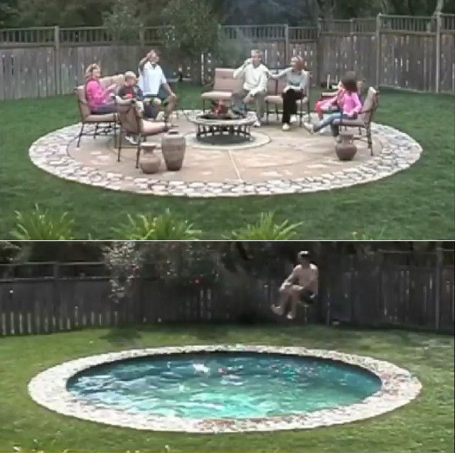 You also can simply build the hidden water pool at your outdoor or even indoor area depends on y