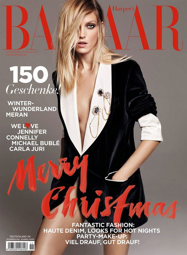 Anja Rubik Stars in Harper's Bazaar Germany Holiday 2016 Cover Story