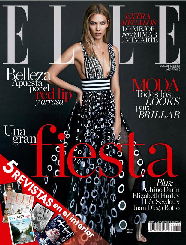 Supermodel Karlie Kloss Covers Elle Spain December 2016 Issue