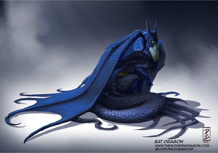 If famous superheroes were dragons