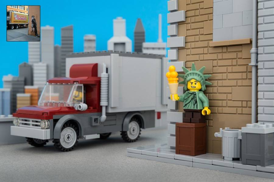 Iconic Banksy Street Art Reproduced in Lego