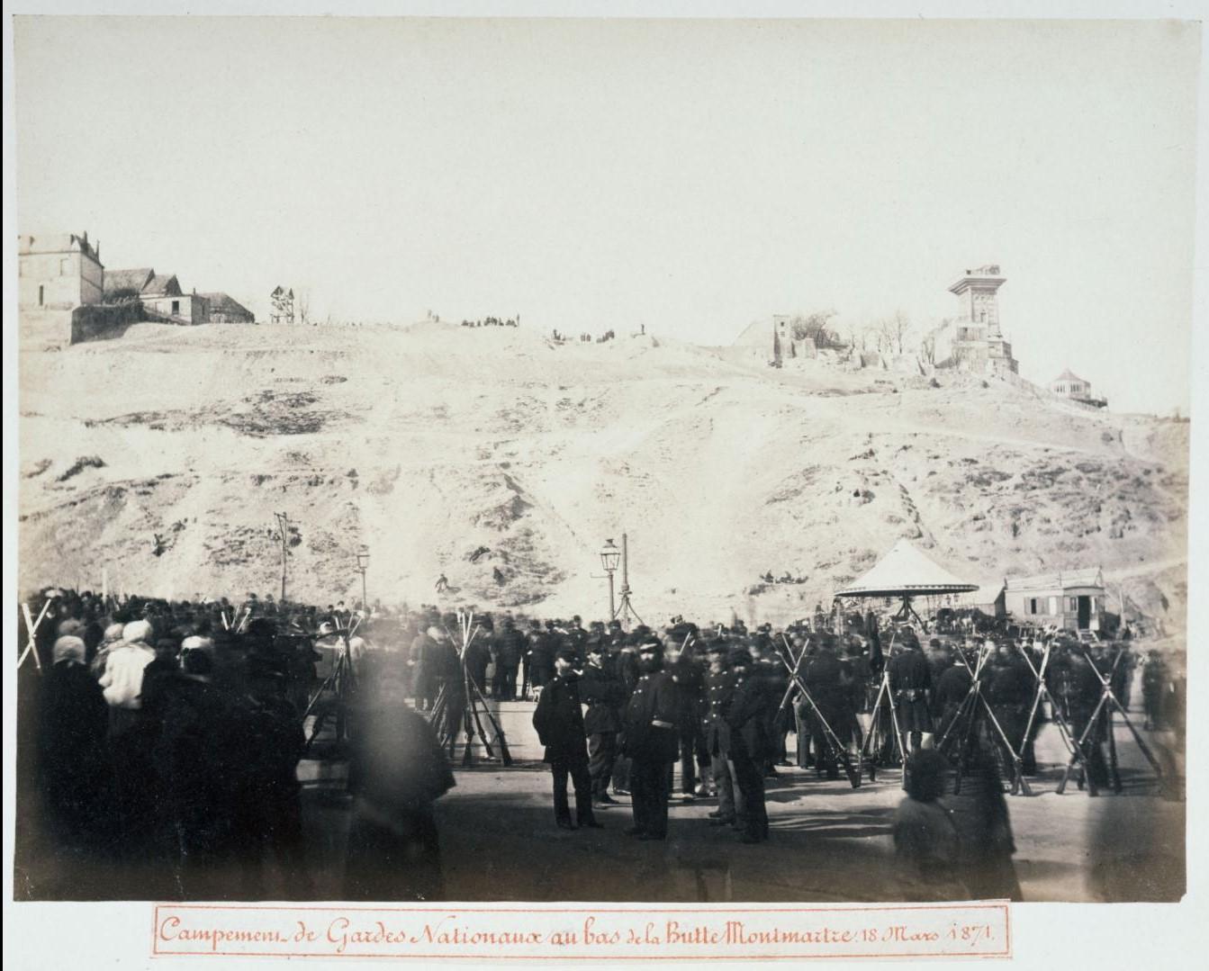 18 марта 1871. Лагерь Национальной гвардии в нижней части Монмартра