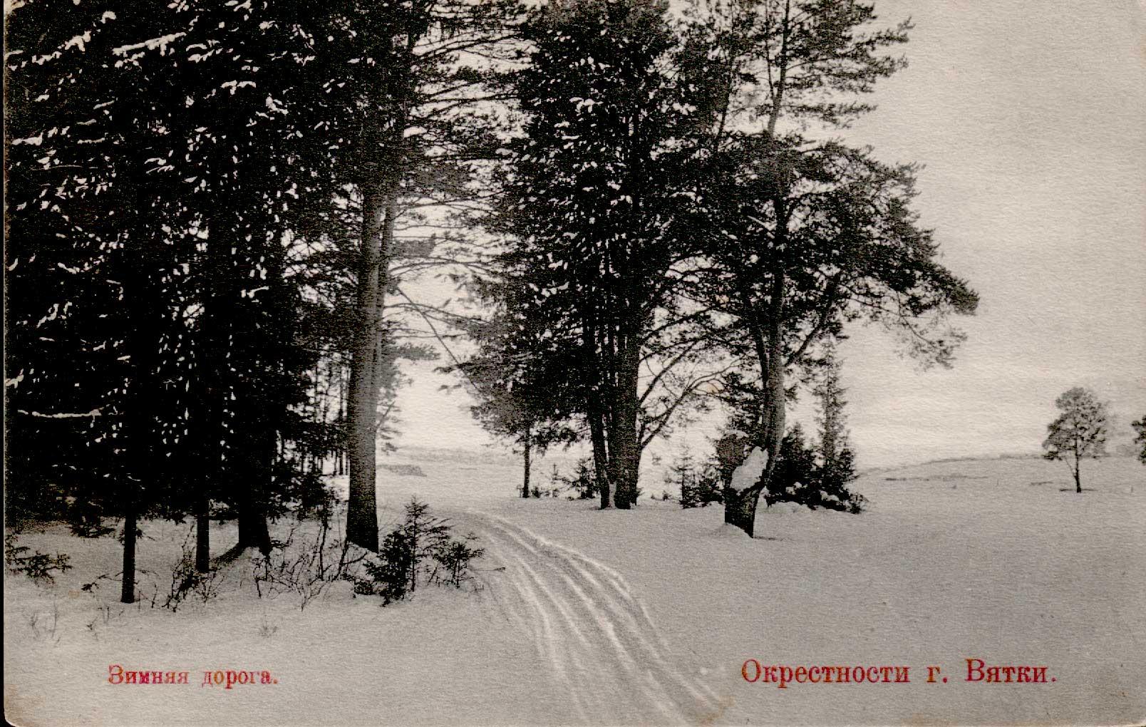 Окрестности Вятки. Зимняя дорога