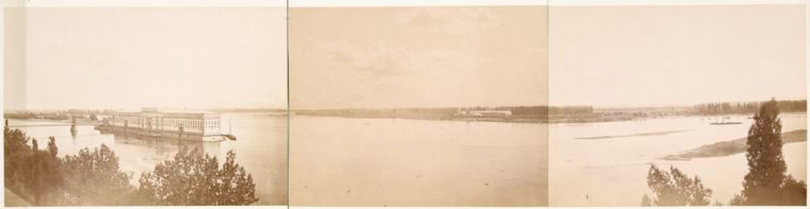 17. Левый берег реки Висла при впадении в нее реки Нарева. Вид из крепости