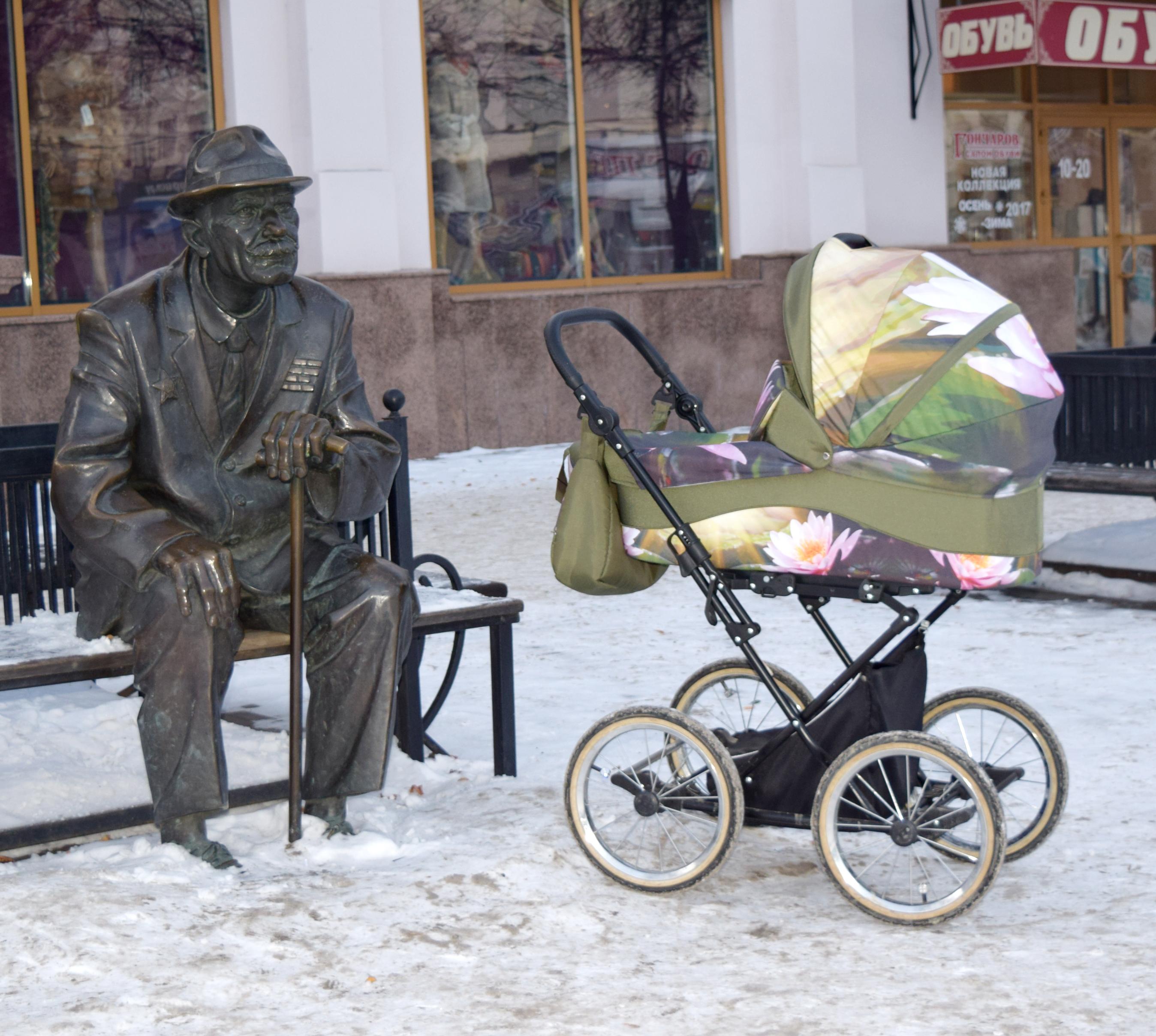 Удачное фото - сторож для детской коляски